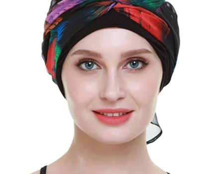pañuelo pelo hojas de colores protección