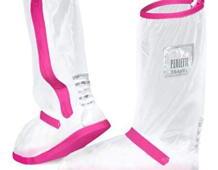 Cubrecalzado transparente y rosa PVC Perletti